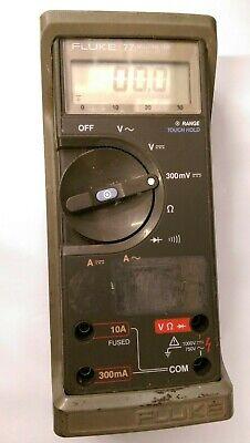Fluke 77 Digital Multimeter No-probesleadsbattery -used-