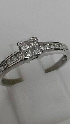 9 carat White Gold 0.33 Carat Diamond Ring Size O  2.1g
