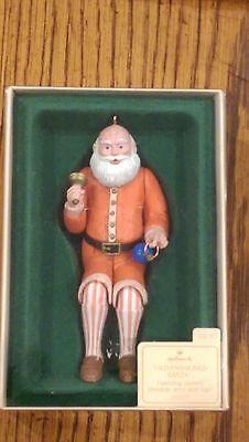 Hallmark Christmas Ornament 1983 Movable Santa VINTAGE original Box w/tab