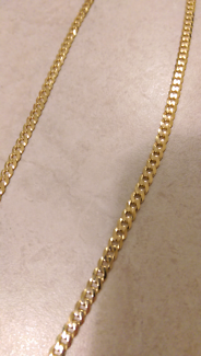 9CT solid 60cm gold chain men's/ladies