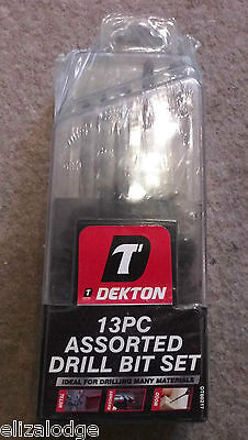 Assorted Drill Set (Dekton 13 PIECE ASSORTED DRILL BIT SET)