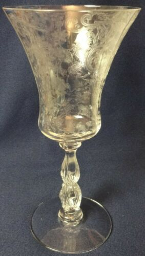 "Chantilly Crystal Water Goblet 8"" 10 oz set of 2 Cambridge Glass"