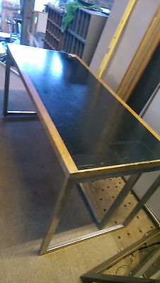 *SALE*John Madin oak chrome desk 70's industrial vintage modernist retro office