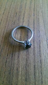 Platinum engagement ring with black diamond Baulkham Hills The Hills District Preview