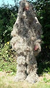 Ghillie Suit Desert Camo/Camoflague 3D Hunting Sniper Ghillie Suit + Gun cover