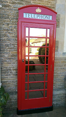 RED TELEPHONE BOX BOOTH KIOSK K6  FRONT MIRROR for sale  Shipping to Ireland