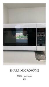 Sharp Microwave - used only twice - like new