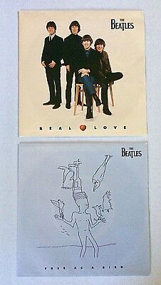 The Beatles Real Love   Free As A Bird  Lot Of Two  7  Vinyl 45 Rpm Singles New