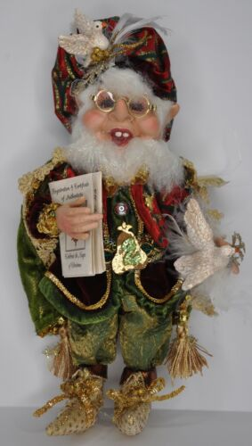 Mark Roberts Two Turtle Doves Elf Small LE #2313 of 10,000 Christmas