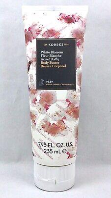 Korres Body Butter White Blossom Moisturizer Full Size 7.95 oz 235 ml SEALED White Body Moisturizer