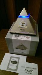 Seiko Pyramid Talking Alarm Clock Table Desk Bedside QHL054GLH