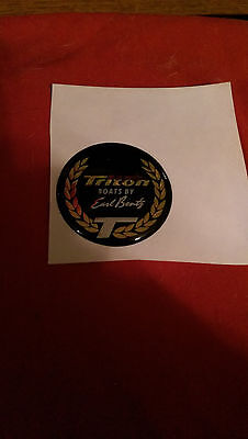 "Triton  Red / Blk/Gold 1 1/2""  Boat Steering Wheel Center Cap Emblem,F/S, XX21"