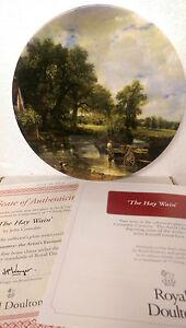 The Haywain Constable Country Royal Doulton Collector Plate Boxed COA