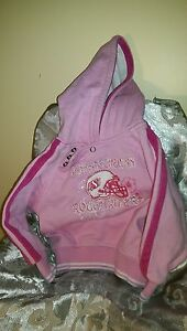 PInk Roughrider Hoodie, 4 snaps at the neck for comfort
