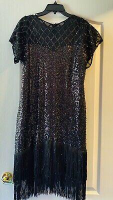 Unique Vintage beaded flapper dress