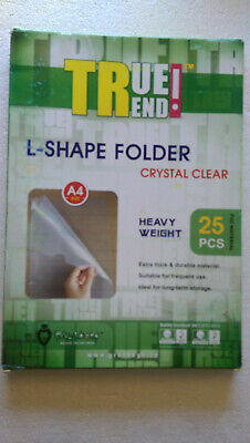 25 Clear-a4 Size Plastic Folder Document Storage In Stock- Ready To Ship Today