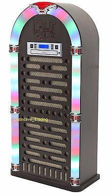 Itek Jukebox 1950's Retro Nostalgia Bluetooth Bluetooth CD Led Light FM Radio NO
