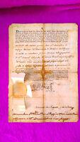 Documento Oficial, C. Superior, Rey Carlos Iv, M. De Negrete, Conde De La Union - union - ebay.es