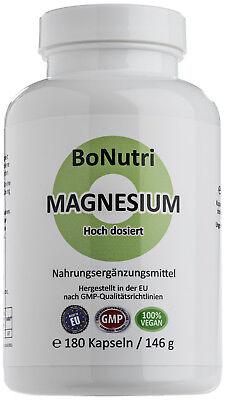 3 Magnesium (Magnesiumcitrat 400 mg Magnesium Tagesdosis 180 vegane Kapseln 3-Monatsbedarf)