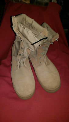 G.I. ISSUE, BOOTS HOT WEATHER  DESERT TAN, SIZE 6-WIDE, GREAT SHAPE.