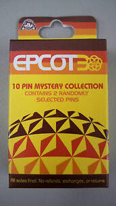 Disney Epcot 30th Anniversary Mystery Pin Set Blind box contains 2 random NEW