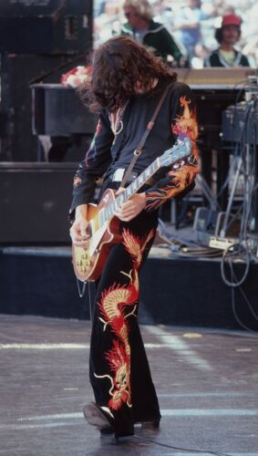 JIMMY PAGE of Led Zeppelin, Photograph by Baron Wolman, SIGNED