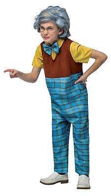 Old Man Halloween Costume Baby (Grandpa Grumpy Old Man Child Costume Pant & Jumpsuit Halloween Rasta)