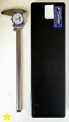 Fowler Stainless Steel Shockproof Dial Caliper 52-008-712-0 Range 0.001