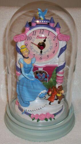 Disney Princess CINDERELLA JAQ, GUS, BLUE BIRD, CASTLE DOME CLOCK Free Shipping!