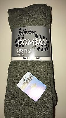Combat Boot Socks 2 pair pack L or XL Extended Size Military Issue Made in USA