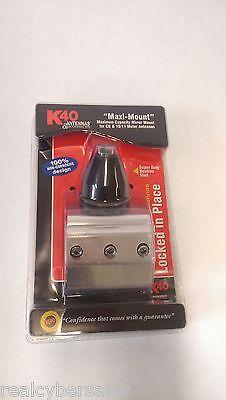 K40 Max CB Ham Radio Antenna Mirror Mount Bracket w Heavy Duty Bee-Hive Stud