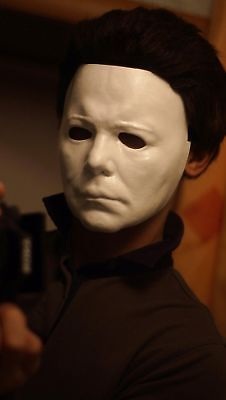 Hand made Michael Myers mask with WIG Hair Plastic Halloween (1978) Halloween II