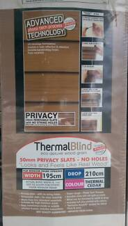 Thermal Timber look Venetian Blinds BRAND NEW UNOPENED 195x210cm Palmwoods Maroochydore Area Preview