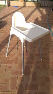 Baby high chair and tray