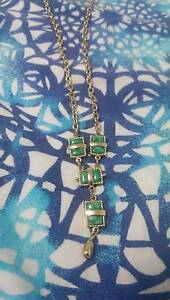 Sarah Coventry Jewellery Gold & Jade Necklace + Victory Wallet Kellyville The Hills District Preview