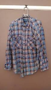 Blue Flanno Button Up (M) Campbelltown Campbelltown Area Preview