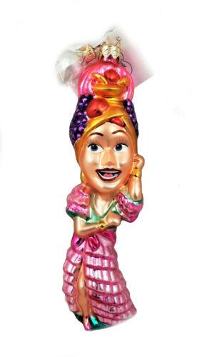 Radko Lucille Ball I Love Lucy Ole Carmen Miranda Glass Ornament New in Box