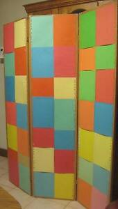 Colourful Vintage Japanese Screen / Room Divider Thornbury Darebin Area Preview