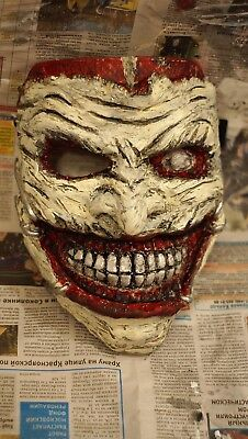 Joker Clown mask Joker death family 52 mask Batman The Dark Knight Adult Joker (Dark Knight Clown Mask)