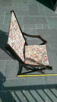 OLD ENGLISH FOLDING DECK-CHAIR, believed to be 1890's Warriewood Pittwater Area Preview