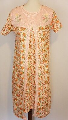 70s 80s Vintage Petal House dress and robe Size Small - 70s And 80s Clothes