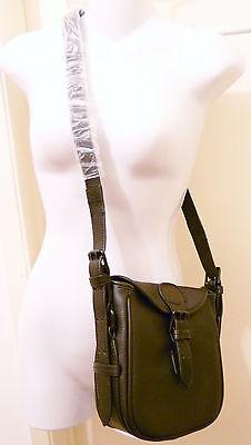 NWT J.Crew Canyon Crossbody Bag JCrew Leather Bag Purse BLACK +DustBag