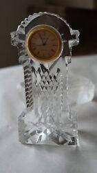 Vintage Waterford Crystal Watch Clock Table Top Paperweight Ireland*****