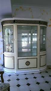 Versace Style Italian High Gloss 4 Door Display Cabinet(98% new) Chatswood Willoughby Area Preview