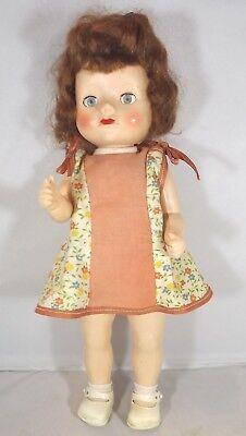 Vintage 1950s 31cm Pedigree Hard Plastic Walker Girl Doll with Red Wavy Hair