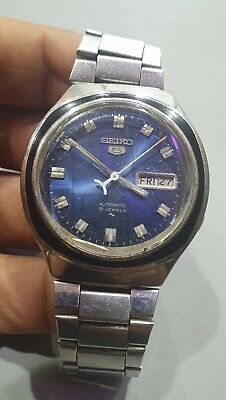 Rare Vintage SEIKO 5 Automatic 7009-8740 Blue Dial Japan Made Mens watch