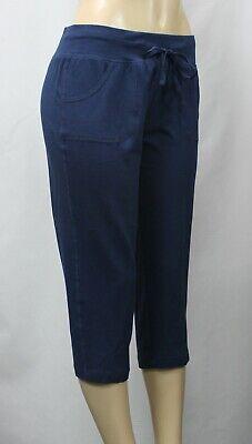 Athletic Works Women's Core Knit Capri Pants Blue Size M [8-10]