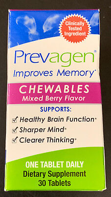 Prevagen Improves Memory Chewables Mixed Berry Flavor 30 tablets #1157 ()