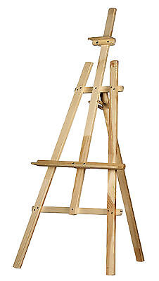 STUDIO EASEL 5ft (1500MM HIGH) ARTIST ART CRAFT DISPLAY - PINE WOOD Wooden