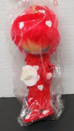 "Vintage NEW Japan Pixie Doll Herman Pecker Valentines Felt Bendable 9"""